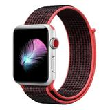 Prime Bands Replacement Bands - Crimson Nylon Weave Sport Loop Apple Watch Replacement Band