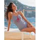 Nautical Stripe Maternity Swimwear Tankini - Blue - Seraphine Beachwear