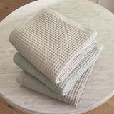 Stowe Waffle Blanket Natural King - Ballard Designs