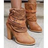 BUTITI Women's Casual boots yellow - Cognac Wrap Buckle Bootie - Women
