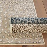 """Celine Cheetah Rug Blue 2'2"""" x 8' - Ballard Designs"""
