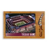 """Texas A&M Aggies Icon Glass Top Logo Cutting Board & Knife Set"""