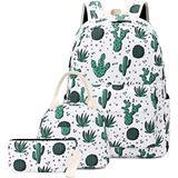 School Backpacks for Girls Teen, Kids Backpack with Lunch Bag Cactus Bookbag Set (Y075-Cactus)
