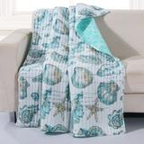 """Cruz Quilted Throw Blanket by Greenland Home Fashions in White (Size 50"""" X 60"""")"""