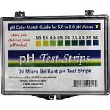 pH Test Strips   30 Micro Brilliant pH Test Strips (30) - Vaxa