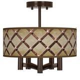 Metal Weave Ava 5-Light Bronze Ceiling Light