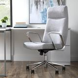 HON BASYX Merger Premium Faux Leather Executive Chair Upholstered in Gray, Size 48.8 H x 23.4 W x 27.4 D in   Wayfair BSX130VA19PA