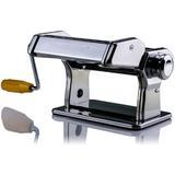 Ovente Manual Pasta Maker w/ 3 Attachments Stainless Steel in Gray, Size 6.2 H x 7.8 W x 9.6 D in   Wayfair PA515S