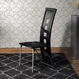 Ivy Bronx Heidrick Upholstered Side Chair in BlackFaux Leather/Upholstered in Black/Gray, Size 41.8 H x 16.5 W x 16.5 D in   Wayfair