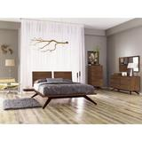 Copeland Furniture Astrid Solid Wood Platform Bed Wood in Red/Black, Size 90.0 W x 78.0 D in | Wayfair 1-AST-05-14