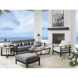 4-Piece Seating - Tommy Bahama Outdoor South Beach 4 Piece Deep Seating Group w/ Cushions, Wood/Natural Hardwoods/Metal in Black