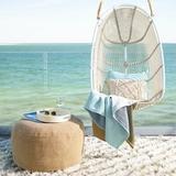 Dash and Albert Rugs Custom Moroccan Handmade Shag Ivory Area Rug Polyester in White, Size 60.0 H x 36.0 W x 0.125 D in   Wayfair DA916-35