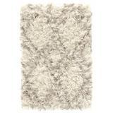 Dash and Albert Rugs Custom Moroccan Handmade Shag Ivory Area Rug Polyester in White, Size 120.0 H x 96.0 W x 0.125 D in   Wayfair DA916-810