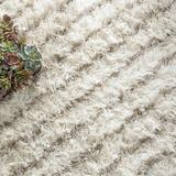 Dash and Albert Rugs Moroccan Lines Handmade Shag Area Rug Polyester in Gray, Size 29.0 W x 0.125 D in   Wayfair DA914-258