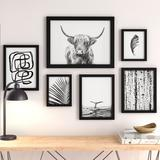 Latitude Run® Black & White by Sisi & Seb - 6 Piece Picture Frame Graphic Art Print Set on Paper Paper in Black/Brown/White | Wayfair