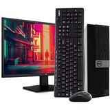 "Dell 5040 Small Form PC Desktop Computer - Intel i5-6500, 16GB RAM, 2TB HDD, Windows 10 Pro, 23.6"" FHD V7 LED Monitor, New 16GB Flash Drive, Wireless Keyboard & Mouse, DVD, HDMI, WiFi (Renewed)"