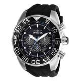 Invicta Men's Watches Steel - Black & Silvertone Speedway Quartz Multifunction Watch