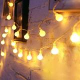 Led Globe String Lights Battery Operated 2 Pack 20ft 40 LEDs 8 Mode Warm White Christmas Lights Waterproof Globe Fairy String Lights with Remote Control for Home Garden Wedding Party Decoration