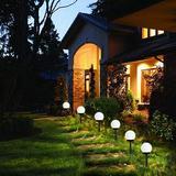 Outdoor Solar Lights, 8-Pack Led Decorative Solar Garden Lights, Waterproof Outdoor Landscape Lights, Solar Path Lighting, Solar Lights For Garden Landscaping Field Walkway Landscape-Sun Ball Light