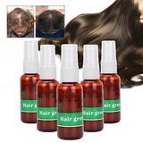 5pcs Hair Regrowth Oil, Hair Growth Oil Serum Liquid Hair Loss Split Fast Hair Growth Serum Oil Anti Hair Loss Nourishing Hair Growth Liquid for Women & Men Dense Thicken Hair