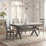 Kelly Clarkson Home Gigi 5 Piece Dining Set Wood/Upholstered Chairs in Brown, Size 30.0 H x 40.0 W x 72.0 D in | Wayfair