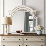 Kelly Clarkson Home Hanley Farmhouse/Country Arched Beveled Distressed Dresser Mirror Wood in Brown/White | Wayfair ONAW4446 45124329