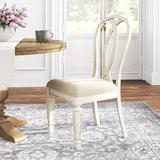 Kelly Clarkson Home Sara Upholstered Queen Anne Back Side Chair in WhiteWood/Upholstered/Fabric in Brown/Gray/White | Wayfair