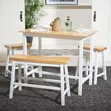 Safavieh Home Collection Ronin Natural and White 4-Piece Table Pub Set