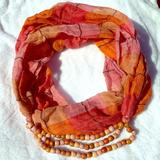 Anthropologie Accessories | Anthro Fall Scarf Bundle | Color: Pink/Yellow | Size: Os