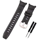 KHZBS Black Resin Watch Strap Replacement PGR-130y PRW-1500 Digital Sports watchband