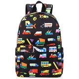 Preschool Backpack Kids Kindergarten School Book Bags for Elementary Primary Schooler (Truck Navy Blue)