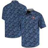 Men's Tommy Bahama Navy Virginia Cavaliers Sport Jungle Shade Camp Button-Up Shirt