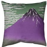 East Urban Home Katsushika Hokusai Fine Wind Clear Morning Throw Pillow Cotton in Green, Size 20.0 H x 20.0 W x 1.5 D in   Wayfair