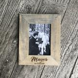 East Urban Home Klingerstown Custom Engraved Family Name Picture Frame Wood in Brown/Gray, Size 11.0 H x 9.0 W x 1.0 D in   Wayfair