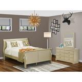 Lark Manor™ Axel Queen Sleigh 3 Piece Bedroom Set Wood in Yellow | Wayfair D256DA4306394460B1F93AD42B785836
