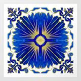 Art Print | Azulejos - Portuguese Tiles by Olooriel - X-Small - Society6