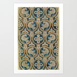 Art Print | 18th Century Spanish Textile Print by Vicky Brago-mitchella(r) - X-Small - Society6