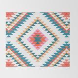 "Throw Blanket   Aztec Rug 2 by Bitart - 51"" x 60"" Blanket - Society6"