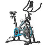 ULTRAPOWER SPORTS Exercise Bike Belt Drive Indoor Cycling Bike for Home Cardio Workout Bike Heavy Duty Flywheel Bicycles - Blue