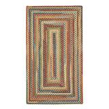 """Capel American Heritage Cinnamon 3' 0"""" x 5' 0"""" Concentric Rectangle Braided Rug"""