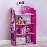 "Delta Children Disney Minnie Mouse Wooden Playhouse 39.5"" Bookcase Wood in Brown/Green/Pink, Size 39.5 H x 19.8 W x 10.25 D in   Wayfair"