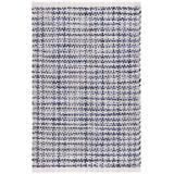 Dash and Albert Rugs Journey Hand-Woven Flatweave/White Indoor/Outdoor Area Rug Polypropylene in Blue, Size 144.0 H x 108.0 W x 0.12 D in   Wayfair