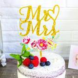 ExclusiveDecor Plastic Disposable Cake Topper Plastic, Size Mr&Mrs | Wayfair CBCY015
