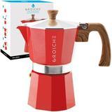 Grosche Milano Espresso Maker in Red, Size 10.0 H x 8.2 W x 7.0 D in | Wayfair GR 391