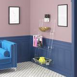 "Etta Avenue™ Cicely 55"" H x 24.4"" W Plastic Ladder Bookcase w/ Bins Plastic, Size 55.0 H x 24.4 W x 15.75 D in   Wayfair"