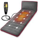 Full Body Vibrating Massage Mat - Massaging Heating Pad, Shiatsu Massage Mattress Cushion w/ 10 Vibrating Motors, Warming Back Massager Mat, Relieves Stress & Muscle Pain - SereneLife SLMPDMSG45