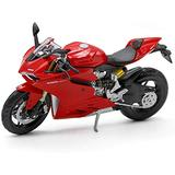 Original 1:12 Ratio Motorcycle Model, Ducati 1199 Model Motorcycle, Static Simulation Die-Casting Model Car, Toy Car, Motorcycle Collection, Gift