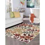 Kalea Cream Machine Washable Large 8x10 Area Rug for Living Room and Bedroom Modern Carpet - Alfombras para Salas Grandes Modernas