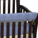 Harriet Bee Mertens 4 Piece Crib Bedding Set Cotton in Blue/Gray/Green   Wayfair B07325E4E1C74297BEE21EE431E4C7D0