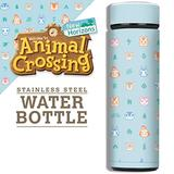 Controller Gear Animal Crossing: New Horizons - Outdoor Pattern Vacuum Insulated Stainless Steel Sport Water Bottle, Leak Proof, Wide Mouth, 17 oz, 500 ML - Not Machine Specific
